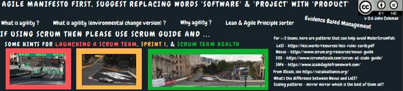 Scrum hints and links header